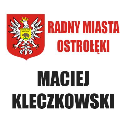 Radny Maciej Kleczkowski